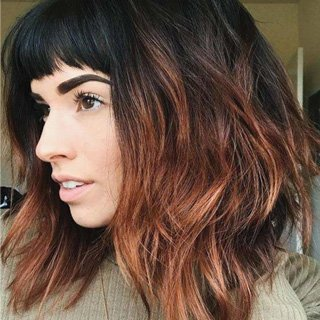 Lob with Short Bangs- Perfect haircut Lengths 2020