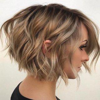 Short Wavy Bob- Perfect haircut Lengths 2020