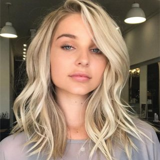 Mid-length Wavy Blonde- Perfect haircut Lengths 2020