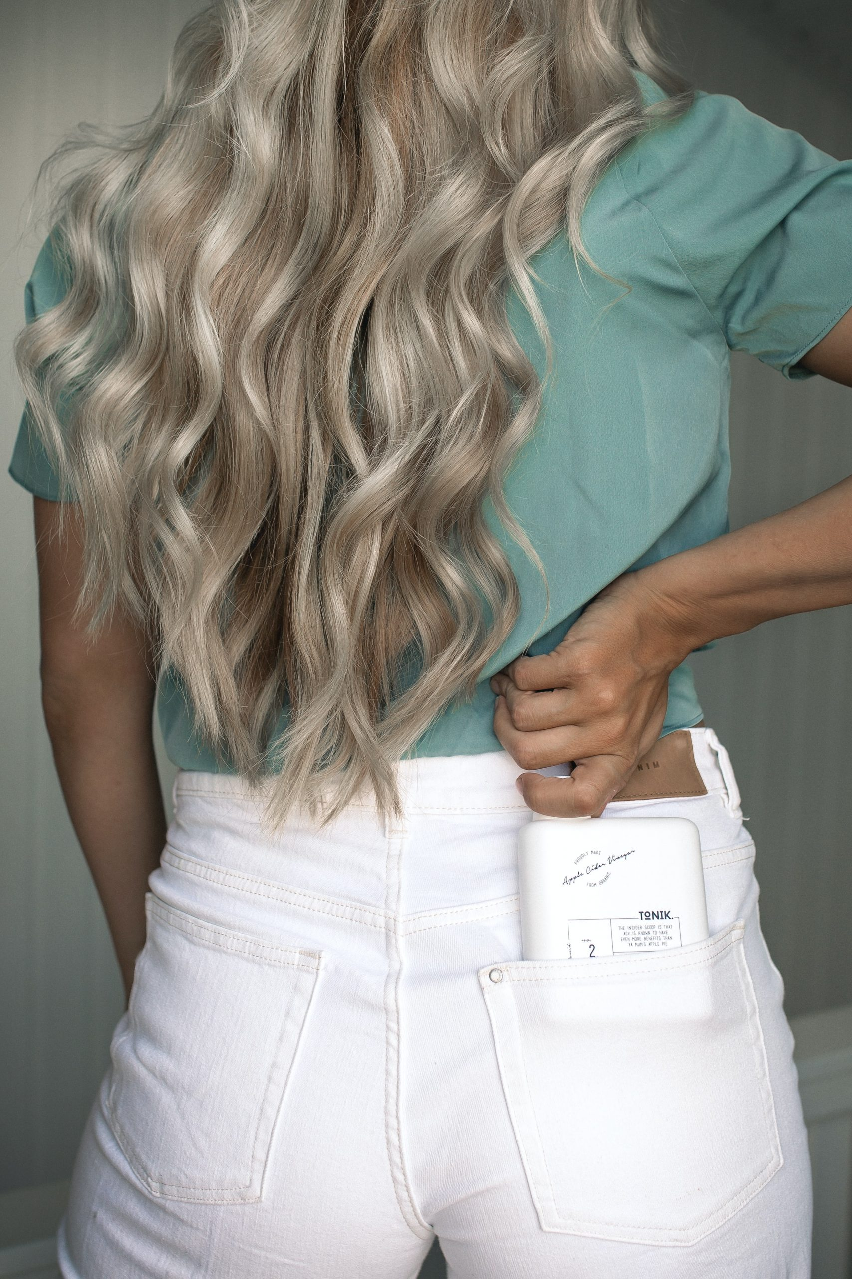 Blonde with Extensions to Waist